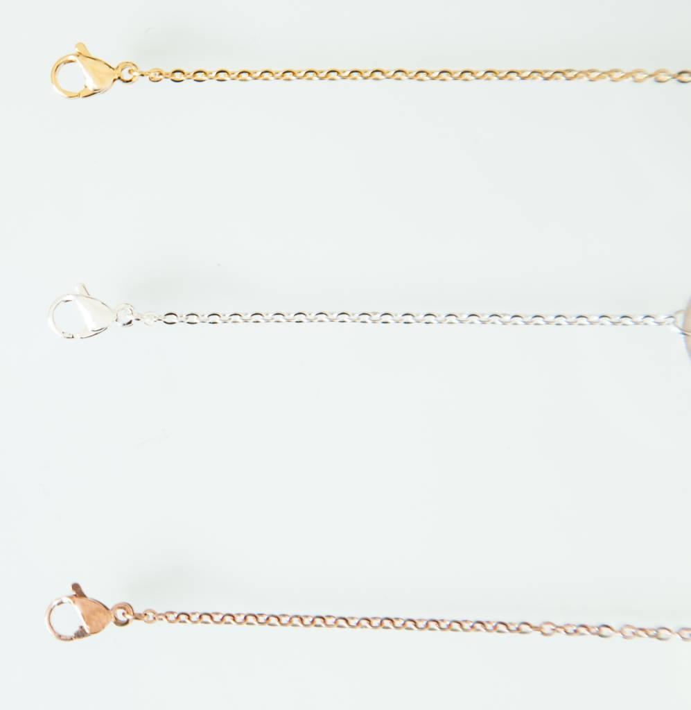HEARTS - Bracelet / silver