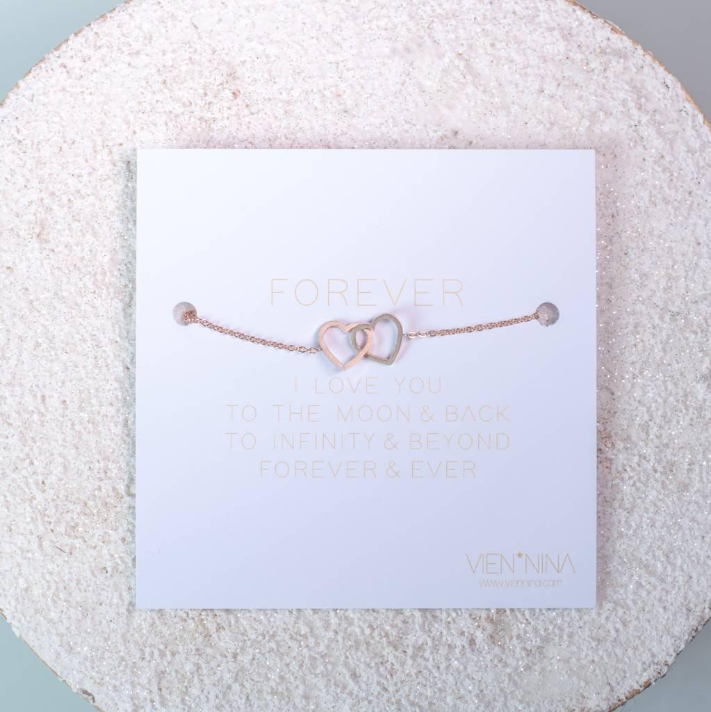 HEARTS - Bracelet - Rose