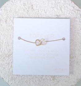 "FOREVER ""HEARTS"" - Armkettchen / Gold"