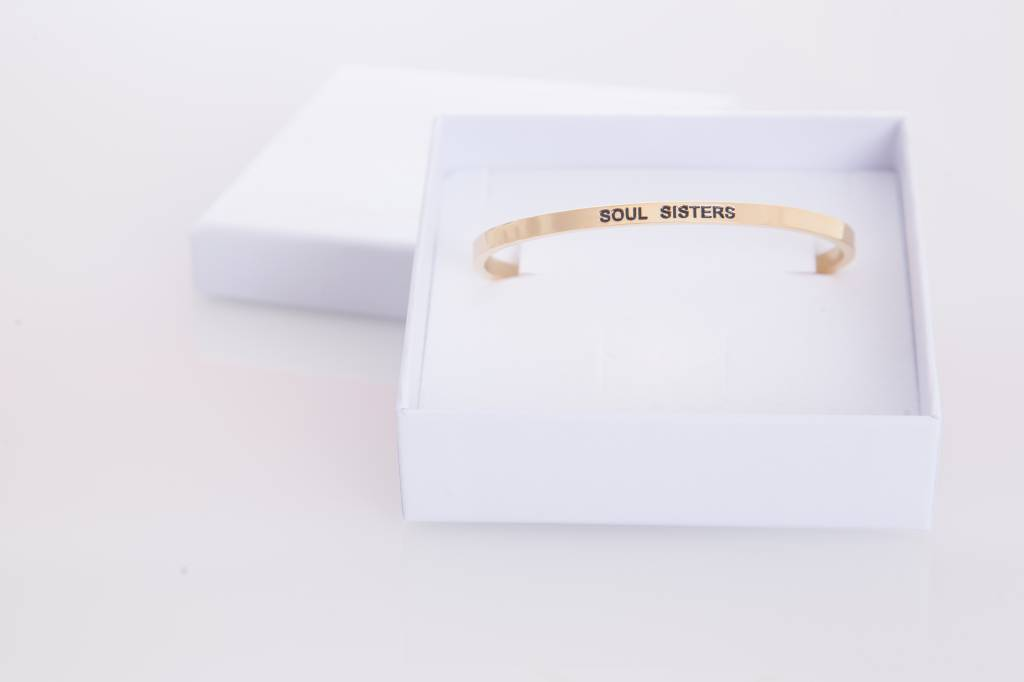 """SOUL SISTERS"" Bangle  Golden"