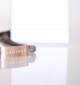 "GLOSSY EDITION : ""LOVE"" ROSEGOLD"