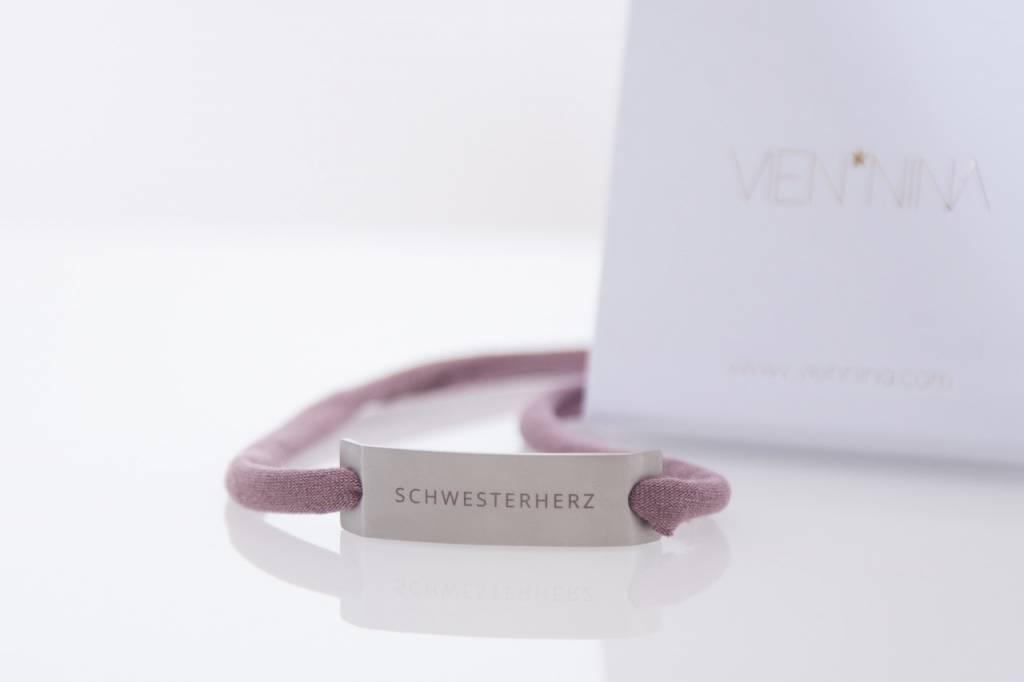 SCHWESTERHERZ - silber