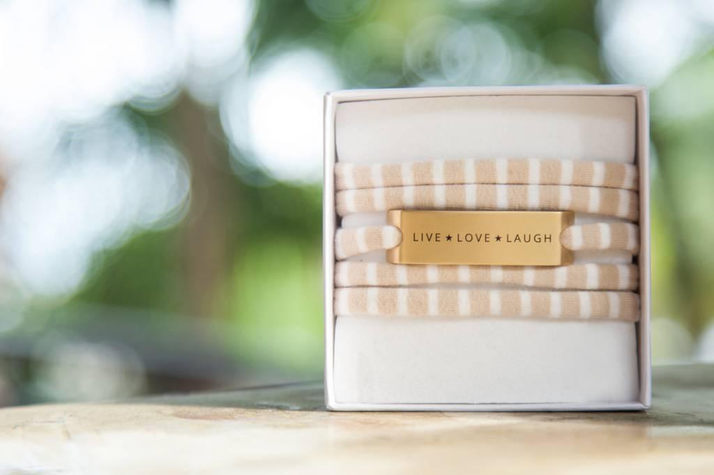 LIVE * LOVE * LAUGH - gold