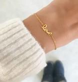 """FOREVER """"LOVE"""" - Bracelet / golden"""