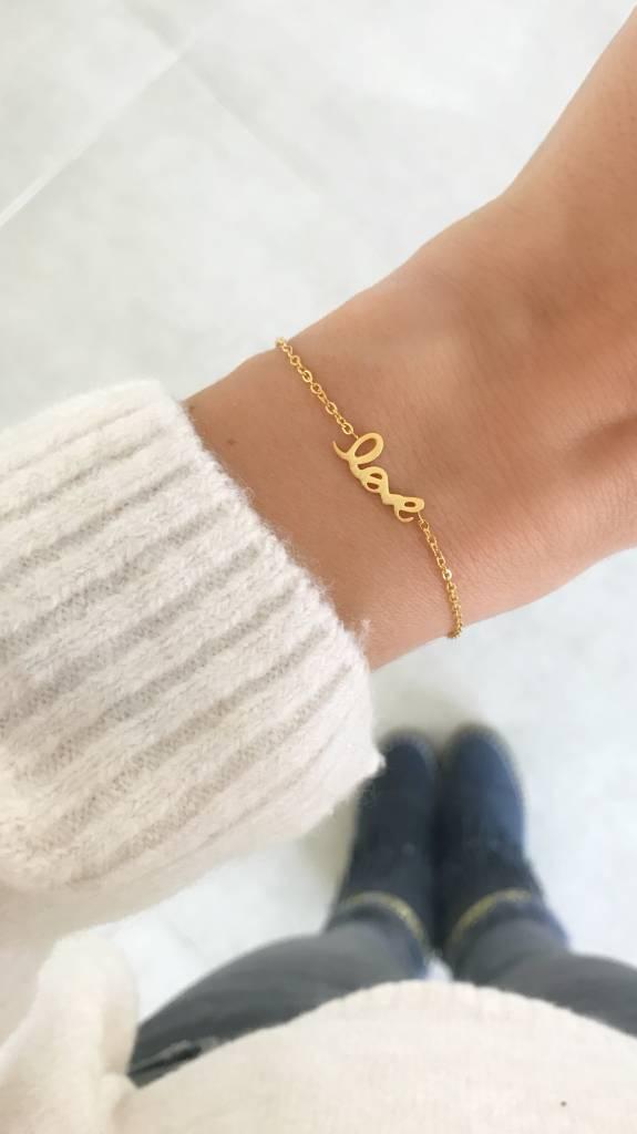 """FOREVER """"LOVE"""" - Bracelet golden"""