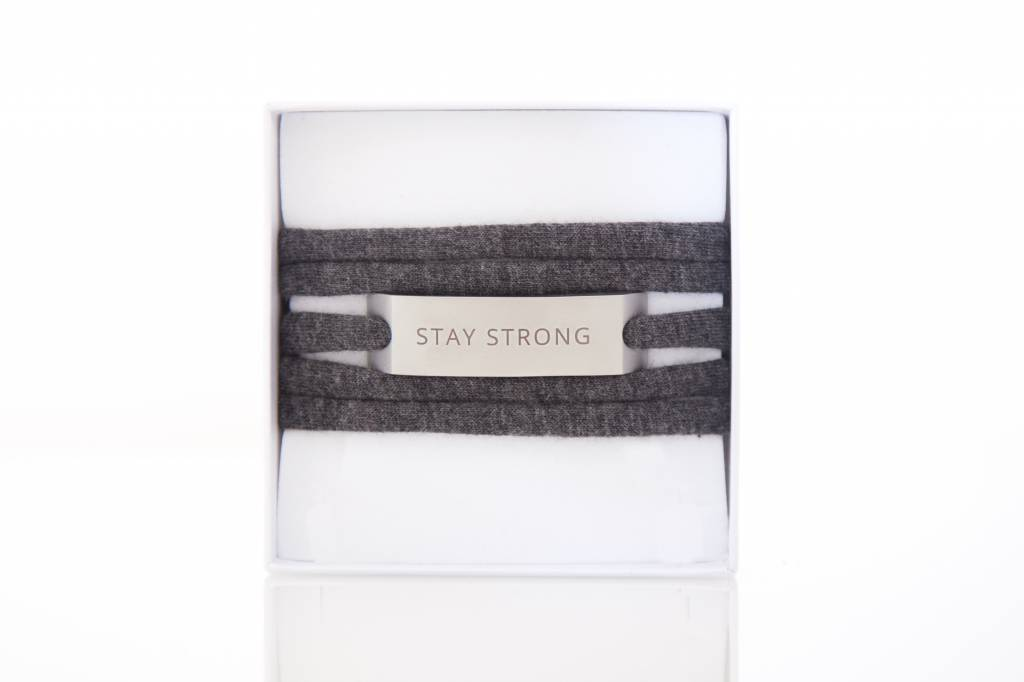 STAY STRONG - silber