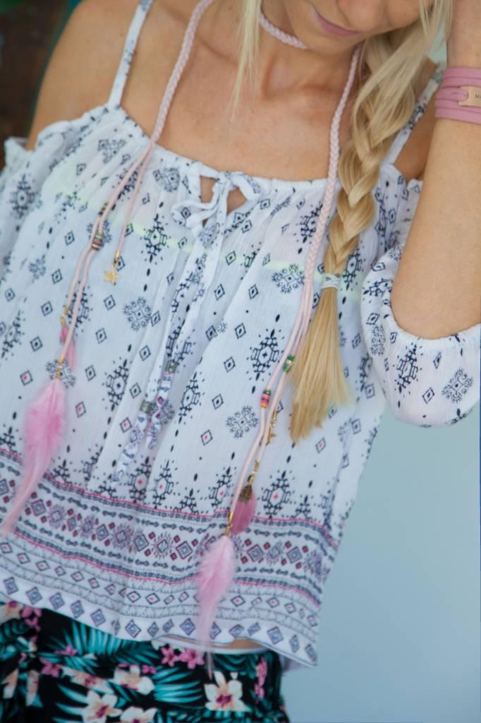 """BOHO"" Necklace Pink"