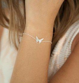 BUTTERFLY bracelet silver