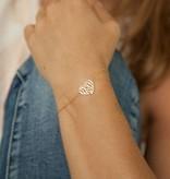 Ornament Heart bracelet golden