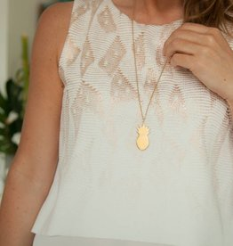 PINEAPPLE - necklace gold