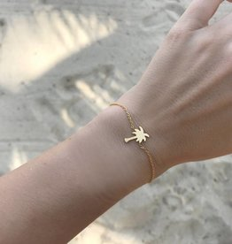 PALM TREE bracelet golden