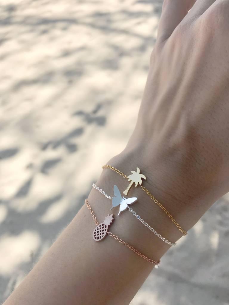 PALM TREE bracelet silver