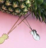 PINEAPPLE - Halskette silber