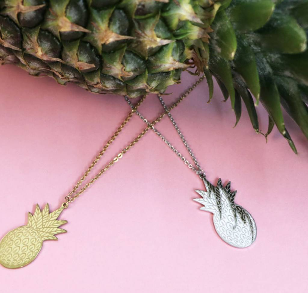 PINEAPPLE - necklace silver