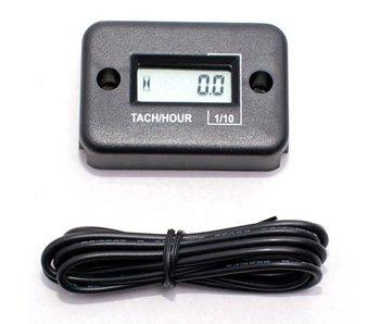 Stundenzähler mit Kabel (Schwarz)