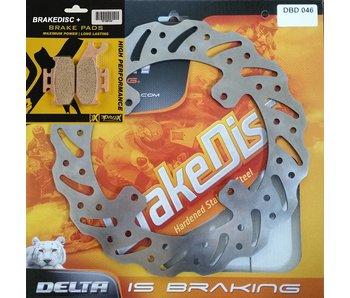 Delta Braking Remschijf - TM 2005-..... ACHTERKANT + Remblokken