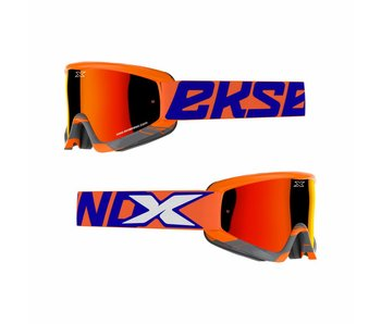 EKS Brand GOX CROSSFADE Flo Orange/ Blue