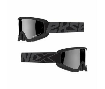 EKS Brand GOX FLAT OUT MIRROR Black/ Silver mirror lens