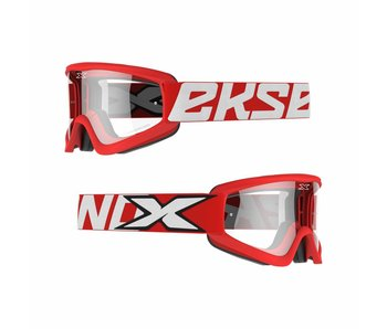 EKS Brand GOX FLAT OUT CLEAR LENS Red/ Clear lens