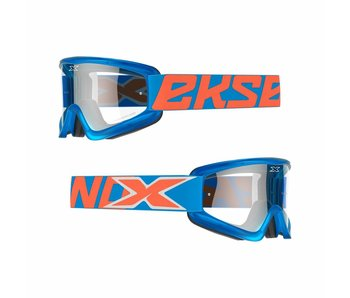 EKS Brand GOX FLAT OUT CLEAR LENS Cyan blue/ Clear lens