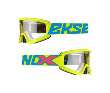 EKS Brand GOX FLAT OUT CLEAR LENS Flo Yellow/ Clear lens