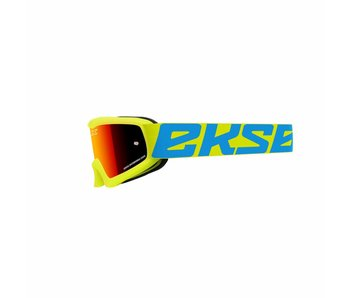 EKS Brand XGROM (youth goggle)  Flo Yellow/ Red  lens