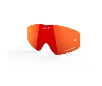 EKS Brand GO-X ANTI-FOG LENS, RED/MIRROR