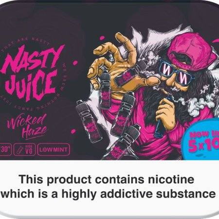 Nasty Juice Nasty Juice Wicked Haze 5x10mls 3mg