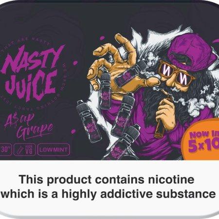 Nasty Juice Nasty Juice ASAP Grape 5x10mls 3mg