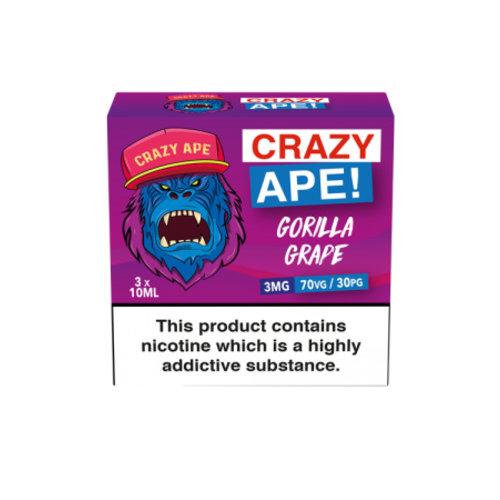 Crazy Ape GORILLA GRAPE 3x10ml 3mg