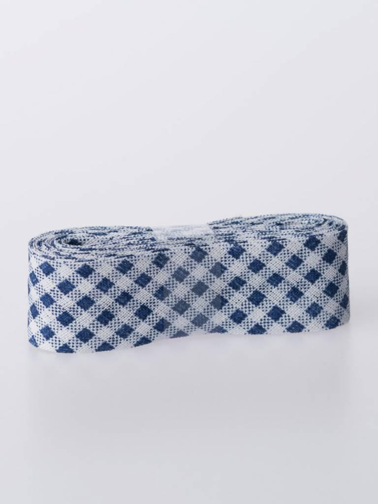 Biaisband - Blauwe Ruitjes - 2m