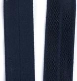 Elastische biaisband - Donker Blauw - 1,10 Euro Per Meter