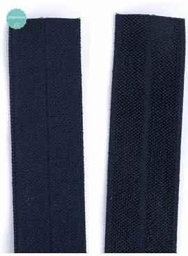 1.10€ p/m - Donker Blauw - Elastische Biaisband