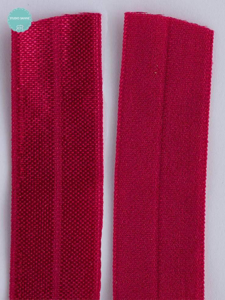Elastische biaisband - Fushia - 1,10 Euro Per Meter