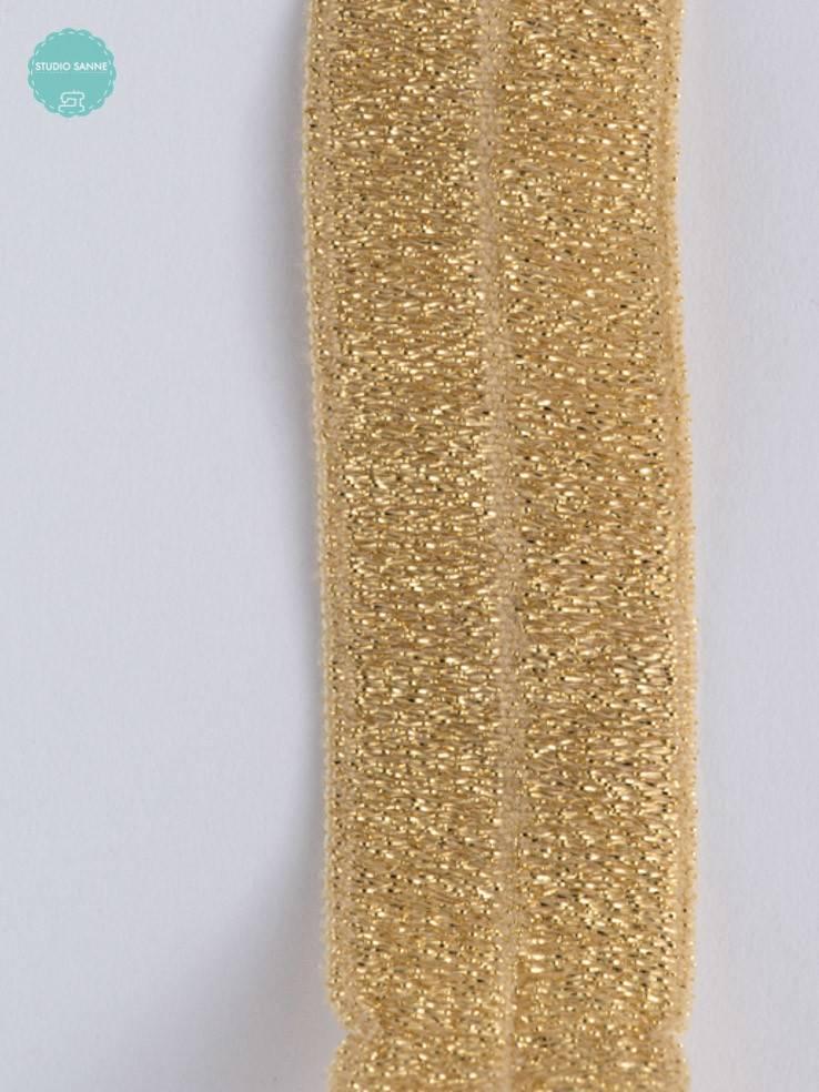 Elastische biaisband - Goud - 1,10 Euro Per Meter