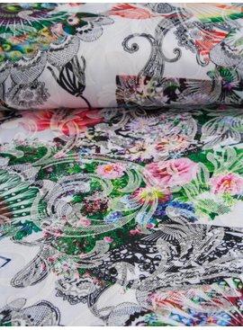 Nooteboom 5,50€ p/m - Digitaal Flowers And Lace - Elastische Katoen