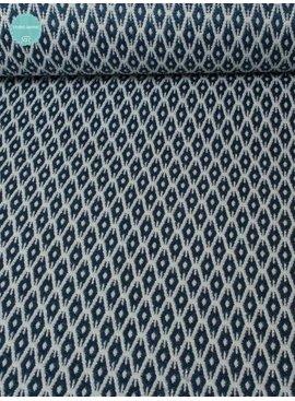 1,3m op 1,40m - Blauwe Ruit - Elastisch Katoen