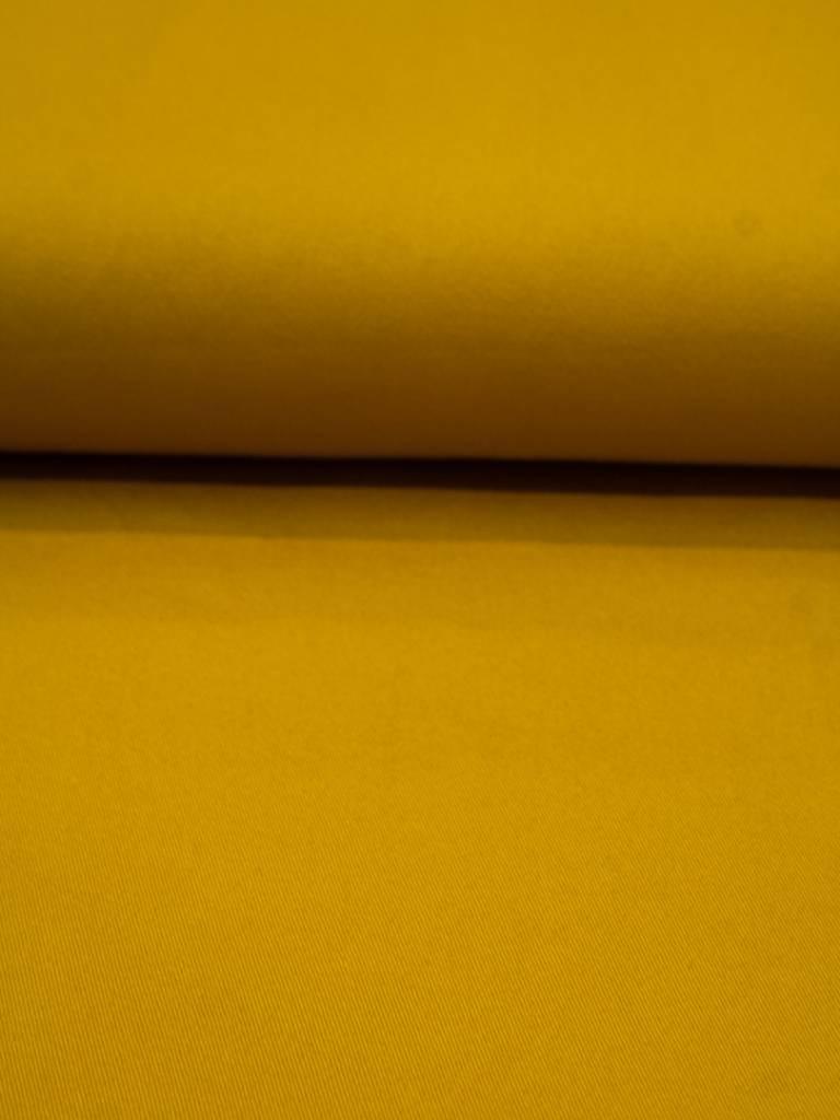 Editex 18 Euro Per Meter - Mosterdgeel - Keperkatoen