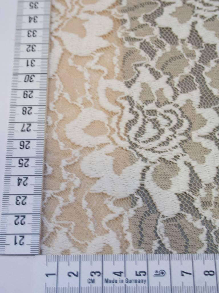 Editex 0,75m op 1,4m - beige - Elastisch Kant