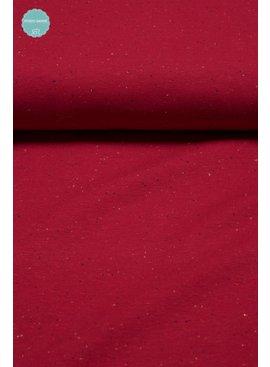 14€ p/m - Cosy Colors Rood - Joggingstof