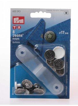 Prym Jeansknopen - 17 mm - Zilverkleurig