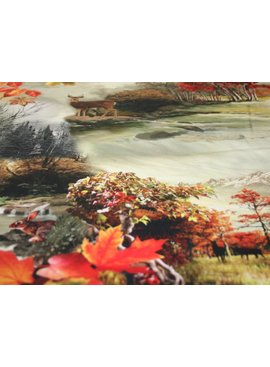 POPPY 3,50€ p/m - Animals In Autumn - Bedrukte Katoen