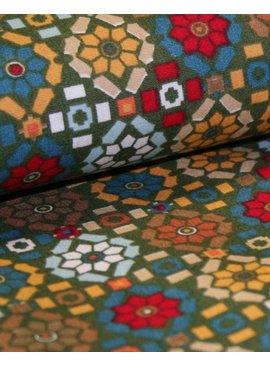 Poppy 5,50€ p/m - Georgeous Graphics Green - Bedrukte Katoen