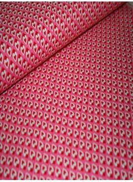 Michael Miller 5€ p/m - Heart O Mine Pink - Bedrukte Katoen