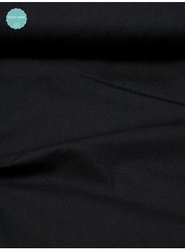 Polytex 8 Euro Per Meter - Zwart - Effen Katoen