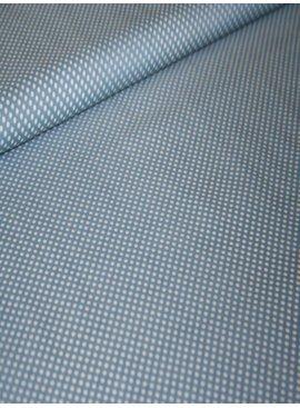 Polytex 12 Euro Per Meter - Lichtblauw/Grijs Met Witte Bolletjes - Bedrukte Katoen