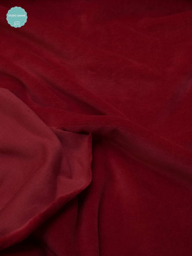 12€ p/m - Rood - Nicky Velours