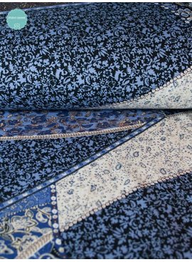 Nooteboom 4€ p/m - Bedrukte Punta Di Roma - Paisley Stripes Blue
