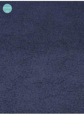 Studio Sanne Sweaterstof - Sherpa - Donker Blauw - 12,50 Euro Per Meter