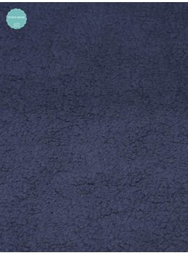 Sweaterstof - Sherpa - Donker Blauw - 12,50 Euro Per Meter